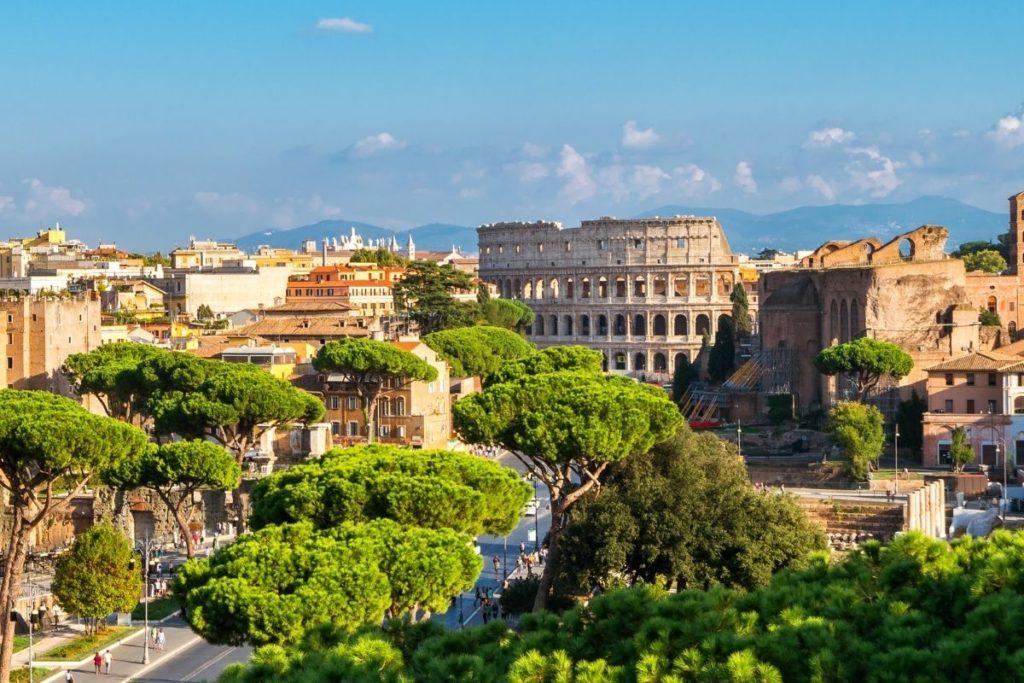 panoramic view rome