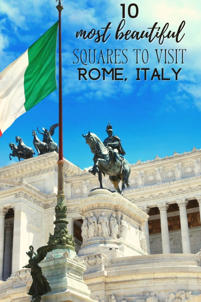 10 most famous squares in Rome, Italy