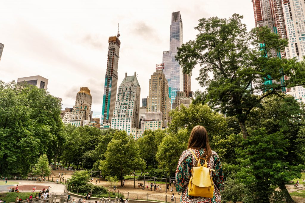 wandering in central park new york