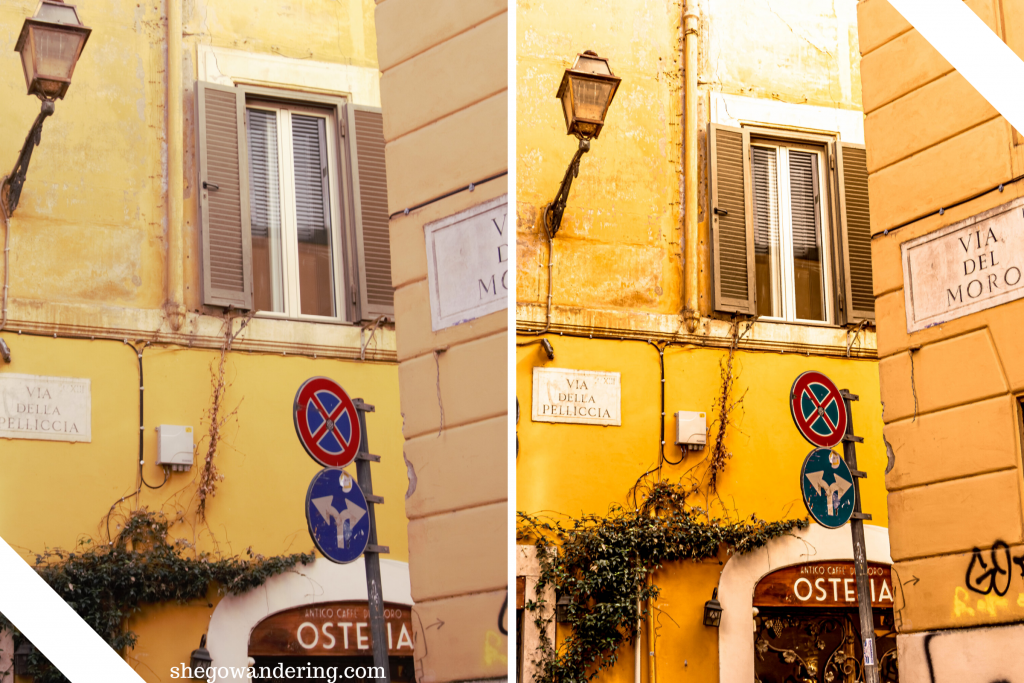 rome preset collection before after shegowandering