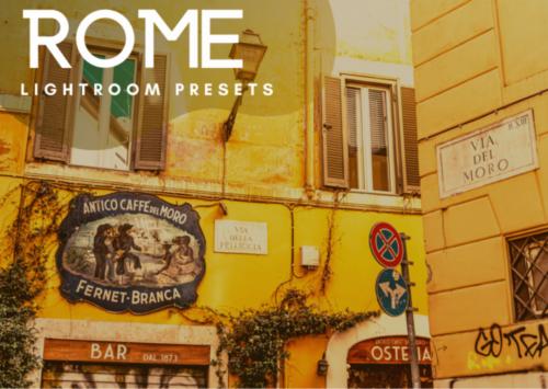 ShegoWandering Rome Lightroom Presets