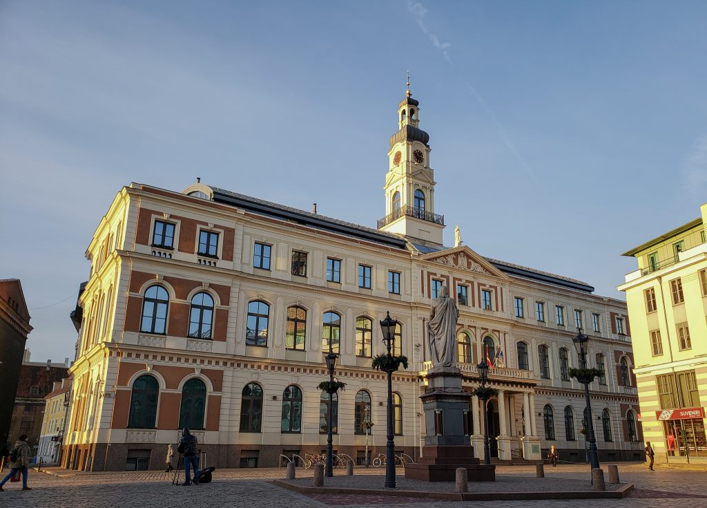 riga town square, latvia