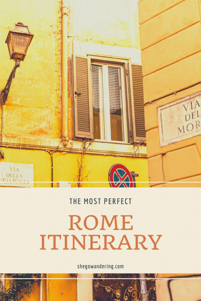3 day rome itinerary italy
